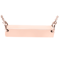 horizontal bar pendant cremation jewelry in rose gold
