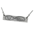 Infinity Symbol Fingerprint Name silver compartment jewelry