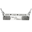 wedding fingerprint jewelry with date
