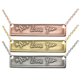 Personalized Bar Pendant Horizontal- Handwriting metal options