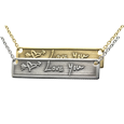 Wholesale Personalized Bar Pendant Horizontal 3D Handwriting