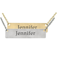 Wholesale Flat Bar Pendant with Text Engraving in silver or gold