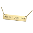 actual handwriting personalized jewelry in gold
