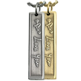 3D handwriting bar pendant in silver or gold