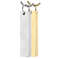 Wholesale Cremation Jewelry Vertical Bar Pendant in silver and gold