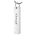vertical bar pendant with name engraved