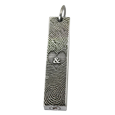 Double Finger Prints silver bar pendant with chamber compartment