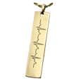 cardiogram in gold necklace pendant