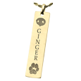Nose and Paw Print Bar Print Jewelry in gold