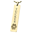 pawprint personalized jewelry with name