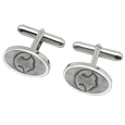 pet nose prints engraved onto cufflinks