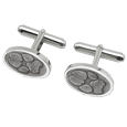 actual paw prints on cuff links