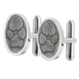 Wholesale Pet Print Jewelry: Sterling Silver Cuff Links- Pawprints