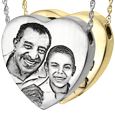 Wholesale Heart Jewelry with Photo available in silver or gold metals