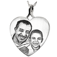 Wholesale Heart Silver Jewelry Charm with Photo