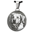 custom pet photo on stainless steel round pendant