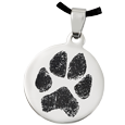 Wholesale Pet Print Jewelry: Stainless Steel Round Tag Paw Print