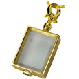 Victorian Glass Rectangle Locket shown plain