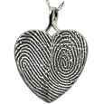 Wholesale B&B Heart Double Print Jewelry no chamber silver