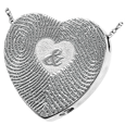 Wholesale silver 3D Duo Fingerprints Ampersand compartment style