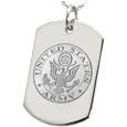 Wholesale Dog Tag with Army emblem and no chamber
