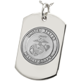 Wholesale B&B Dog Tag with Marine Corps emblem in silver