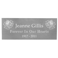 Wholesale Engraved Memorial Plaque- Small Silver Finish in block