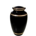 Wholesale Pet Cremation Urns: Black Gold Cat Urn
