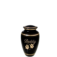 Wholesale Pet Urn Keepsakes: Black Gold shown engraved