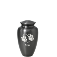 Wholesale Pet Urns: Simple Grey Mini Keepsake shown engraved