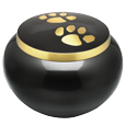 Wholesale Dog Cremation Urns: Gold Pawprints Medium, Gloss