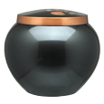 Front view of Copper Pawprints, Gloss cat urn