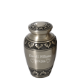 Wholesale Urn Keepsake: Tranquil Forest Pewter shown engraved