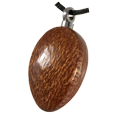 Wholesale Oblong Dark Wood Cremation Jewelry