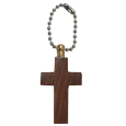 Wholesale Wooden Cross Cremation Keychain