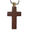 Wholesale Wooden Cross Cremation Keychain detail