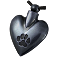 Wholesale Pet Cremation Jewelry: Black Heart Pawprint