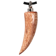 Sabre Tooth Light Wood Cremation Jewelry