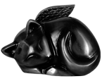 Wholesale Pet Cremtion Urns: Sleeping Cat Angel- Black