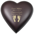 Brass Heart Espresso- Actual Feet Prints Option