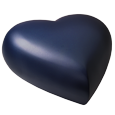 side view of cat heart urn