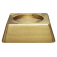 Wholesale Square Pet Urn Base Matte Brass shown with no engraving