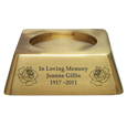 Wholesale Square Urn Base Matte Brass Engravable