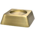 Side view of Wholesale Square Pet Urn Base Matte Brass