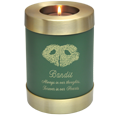 Wholesale Memorial Candle Pet Urn with actual nose print on sage