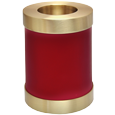 Scarlet Red Candle Holder Dog Urn shown plain