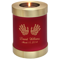 Wholesale Baby Urn: Scarlet Candle Holder Memorial- Actual Hands Pr