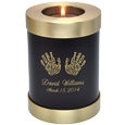 Wholesale Baby Urn: Espresso Candle Holder Memorial- Actual Hands
