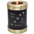 Wholesale Pet Urn: Espresso Candle Holder Dog Urn engraved snowflakes