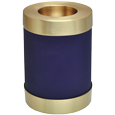 Blue Nightfall Candle Holder Urn shown plain